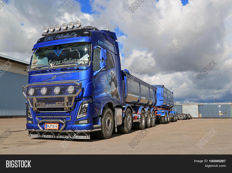 Volvo Fh16 750 Dump Truck On Asphalt Yard