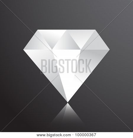 diamond web flat icon