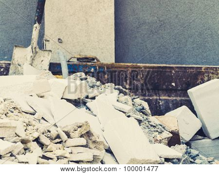 Full Construction Waste Debris Container
