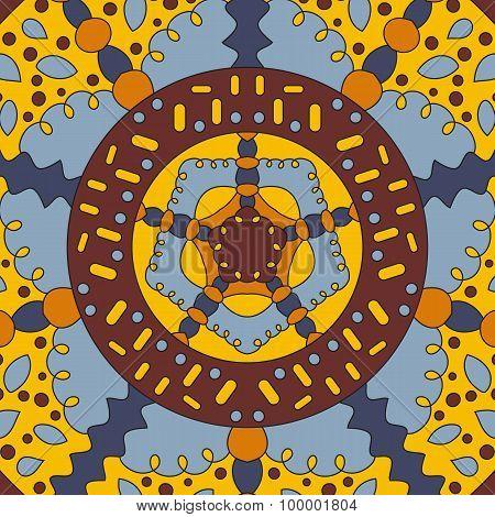 Square symmetrical color pattern bandana
