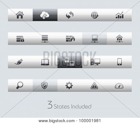 Developer // Classic Bars +++ The vector file includes 3 buttons states in different layers. +++