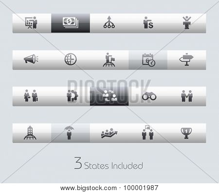 Business Concepts // Classic Bars +++ The vector file includes 3 buttons states in different layers. +++