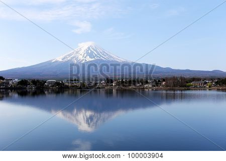 Mount Fuji In Kawaguchiko Lake Side.