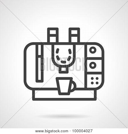 Coffee machine simple line vector icon
