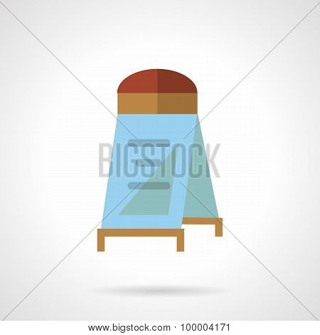 Flat color sandwich board vector icon