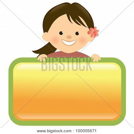 Girl holding sign