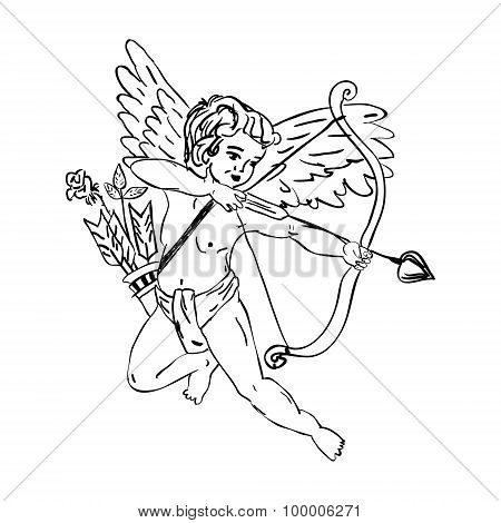 Flying Cupid With A Arrow
