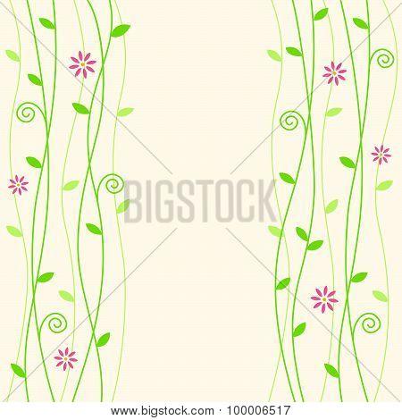 Flowery Vine Background Illustration