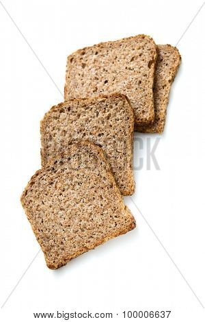 Specially produced bread without flour, the main ingredient of bread is germ of wheat and rye