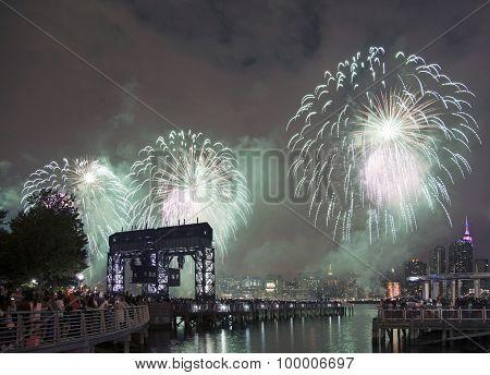 Macy's Fireworks Celebration In New York City