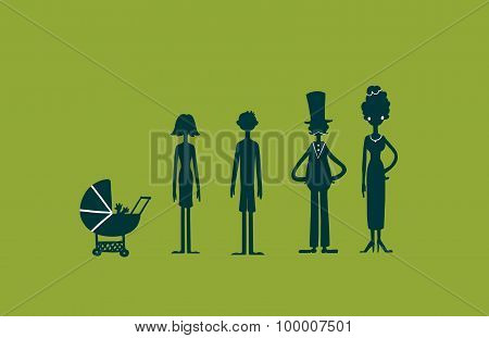 Happy Family Concept.