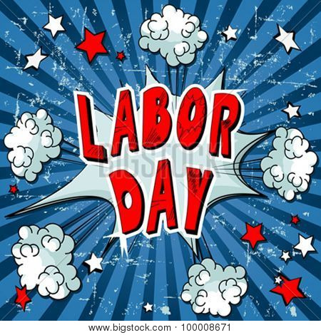 Illustration of comic book for Labor Day