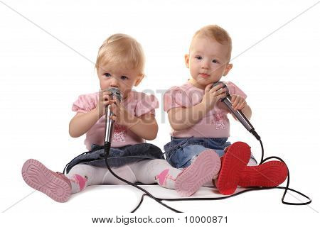 The Child Listens To Music