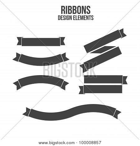 Ribbons Design elements. Vector