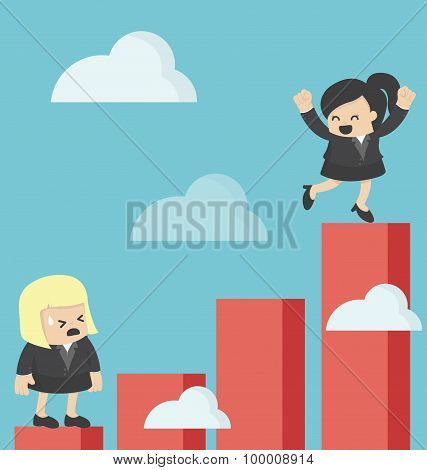 Business Woman Increase Profit