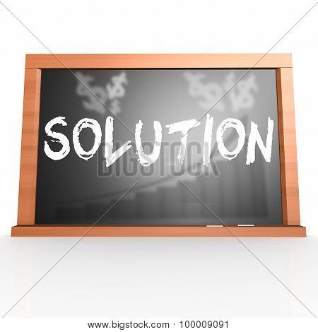 Black Board With Solution Word