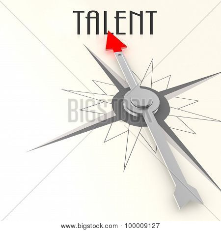 Compass With Talent Word