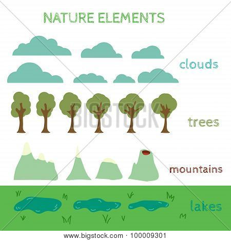 Nature Design elements. Build your own Landscape