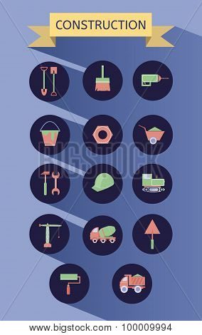 Building and Construction Icons Set