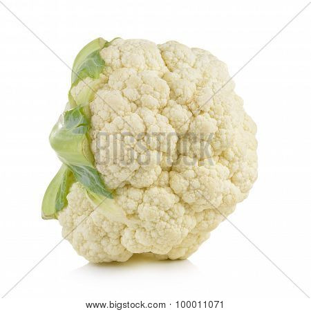 Fresh Cauliflower On White Background