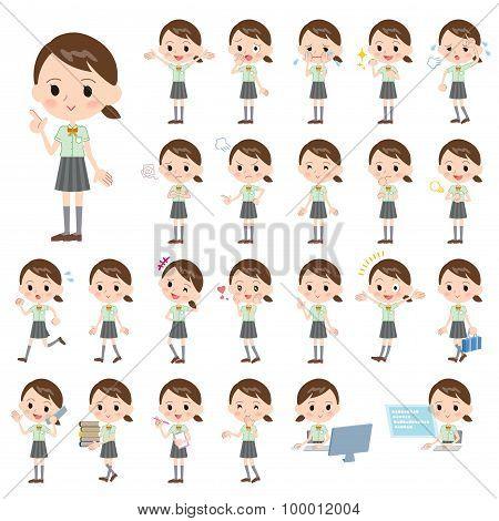 Schoolgirl Green Shortsleeved Shirt