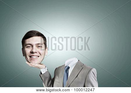 Headless businessman