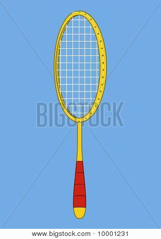 Racket for the badminton