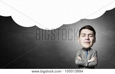 He is big head