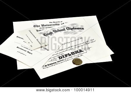 High School Diploma College Degree Certificate