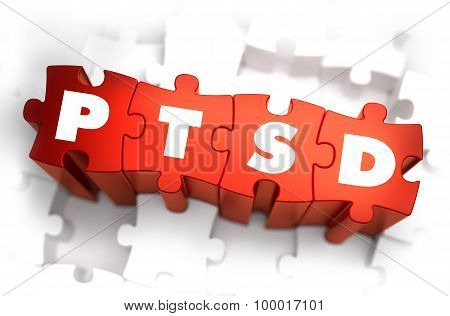 PTSD - White Word on Red Puzzles.