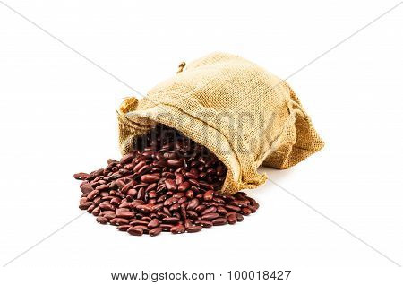 Red Kidney Bean In A Ramie Sac