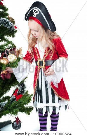 Baby girl dressed up for Christams