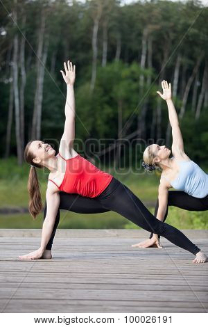 Yoga Class: Extended Side Angle Pose