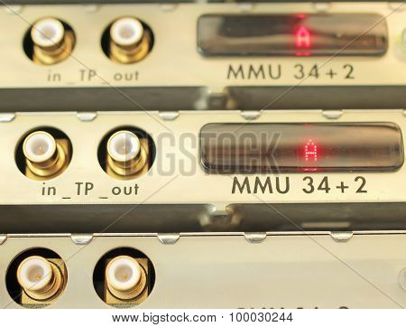 optical multiplexer in the server room mobile operator