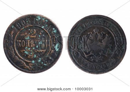 Russia Coin On White