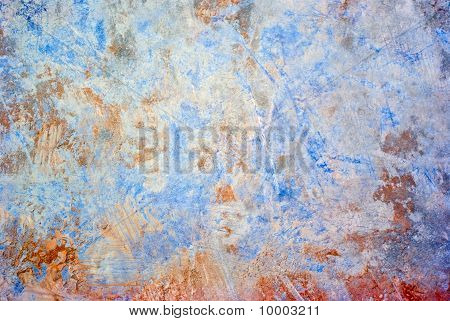Colored grunge iron background