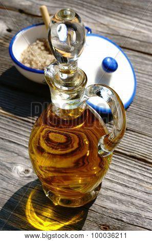 Bottle Olive Oil And Salt