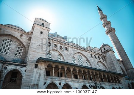 View of the majestic Suleiman Mosque, Istanbul, Turkey.