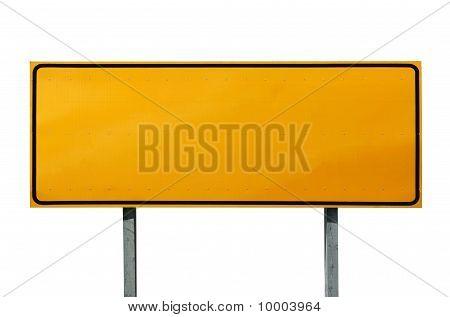 Big Blank Highway Sign