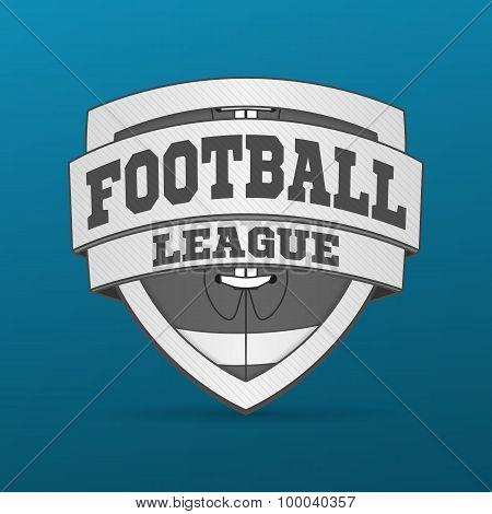 American Football graphic Label