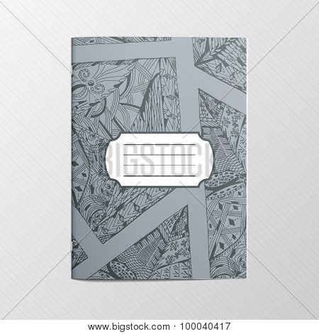 Decorative ethnic Ornament for Notebook Cover