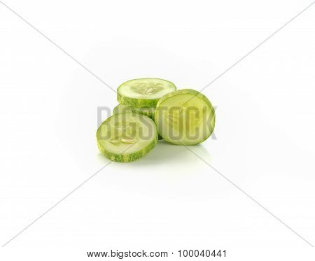Cucumbers On A White Background.
