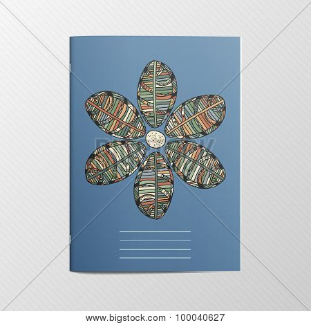 Notebook Cover with Flower Ornament