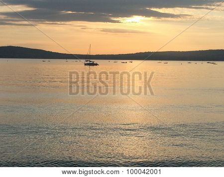 Boats Moored on Belfast Lough