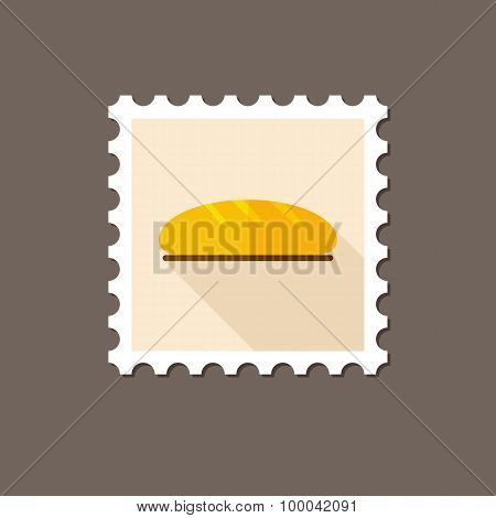 Bread Flat Stamp With Long Shadow