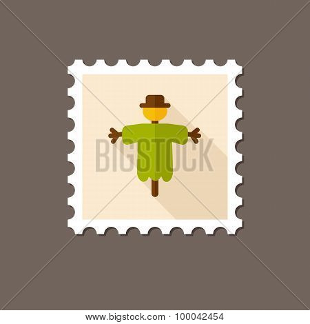Scarecrow Flat Stamp With Long Shadow