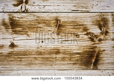 Background from old wooden boards with knots