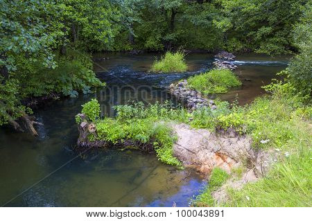 Fast River, Forest, Stone Passage