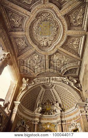 Fragment Of Interior The Loggia Delle Benedizioni, Basilica Di San Giovanni In Laterano, Rome, Italy