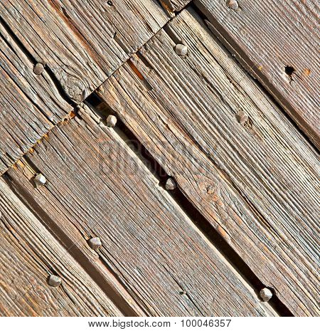 Abstract Texture Of A Brown Antique Wooden Old Door In Italy   Europe